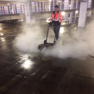 Power Washing Houston and power washing a parking garage
